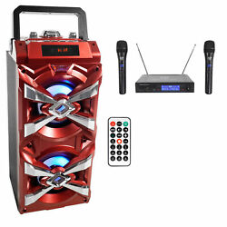 Kyпить NYC Acoustics X-Tower Bluetooth Karaoke Machine System w/LED's+(2) Wireless Mics на еВаy.соm