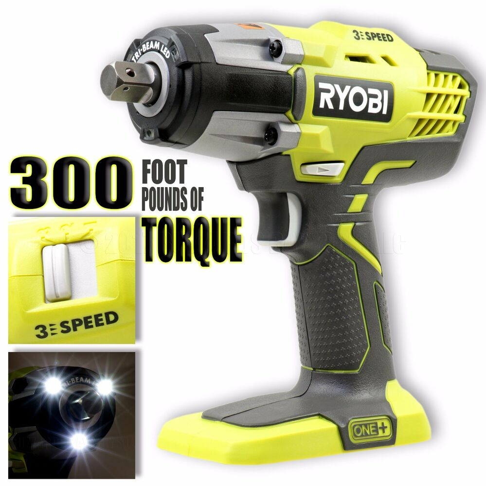 Ryobi 18v One 3 Sd 1 2 Cordless Impact Wrench P261 Bare Tool Only