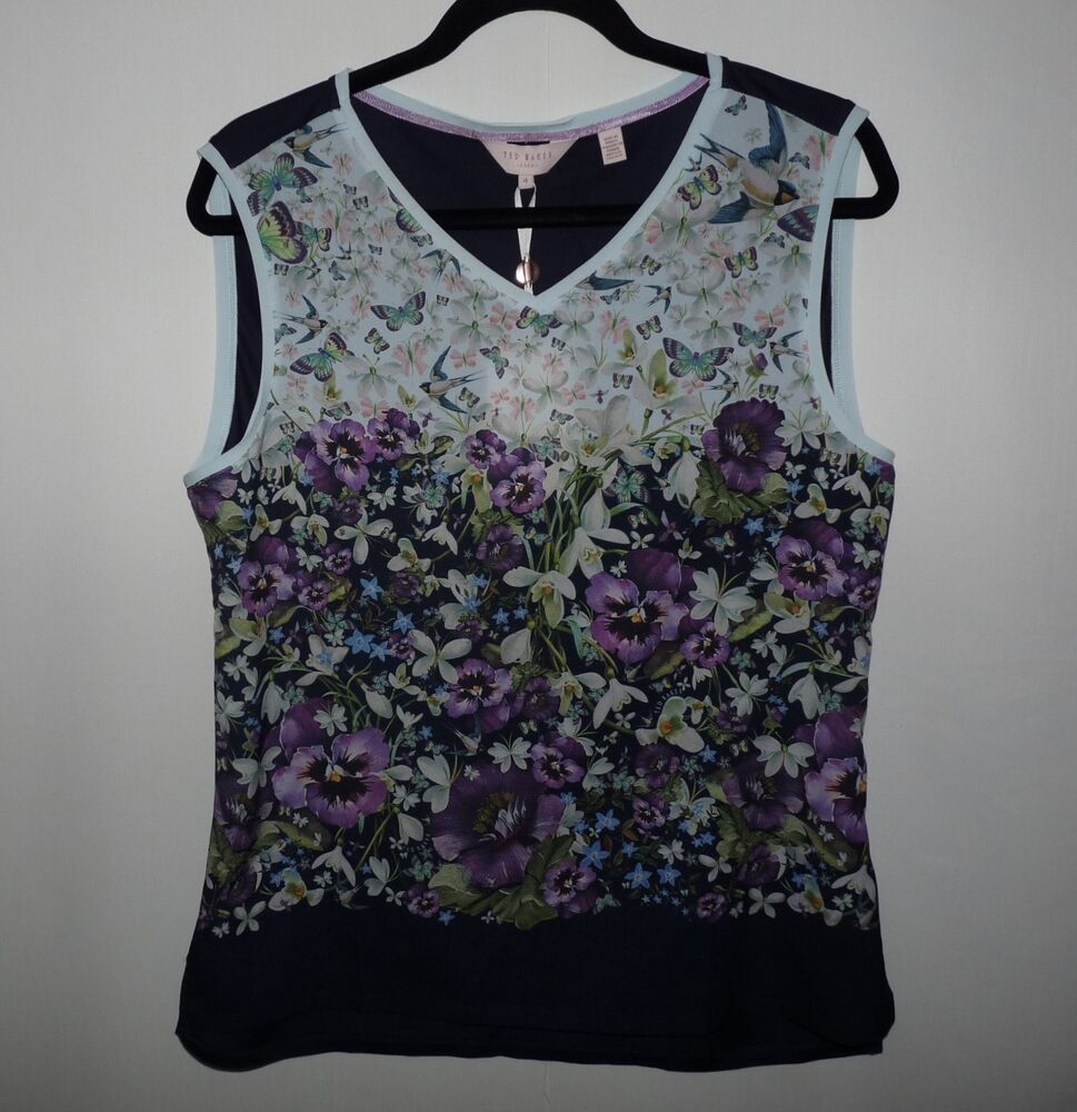 6c0b49130da8e5 Details about Stunning Ted Baker Enchantment Vest Tee Top Size 4 (US 10)
