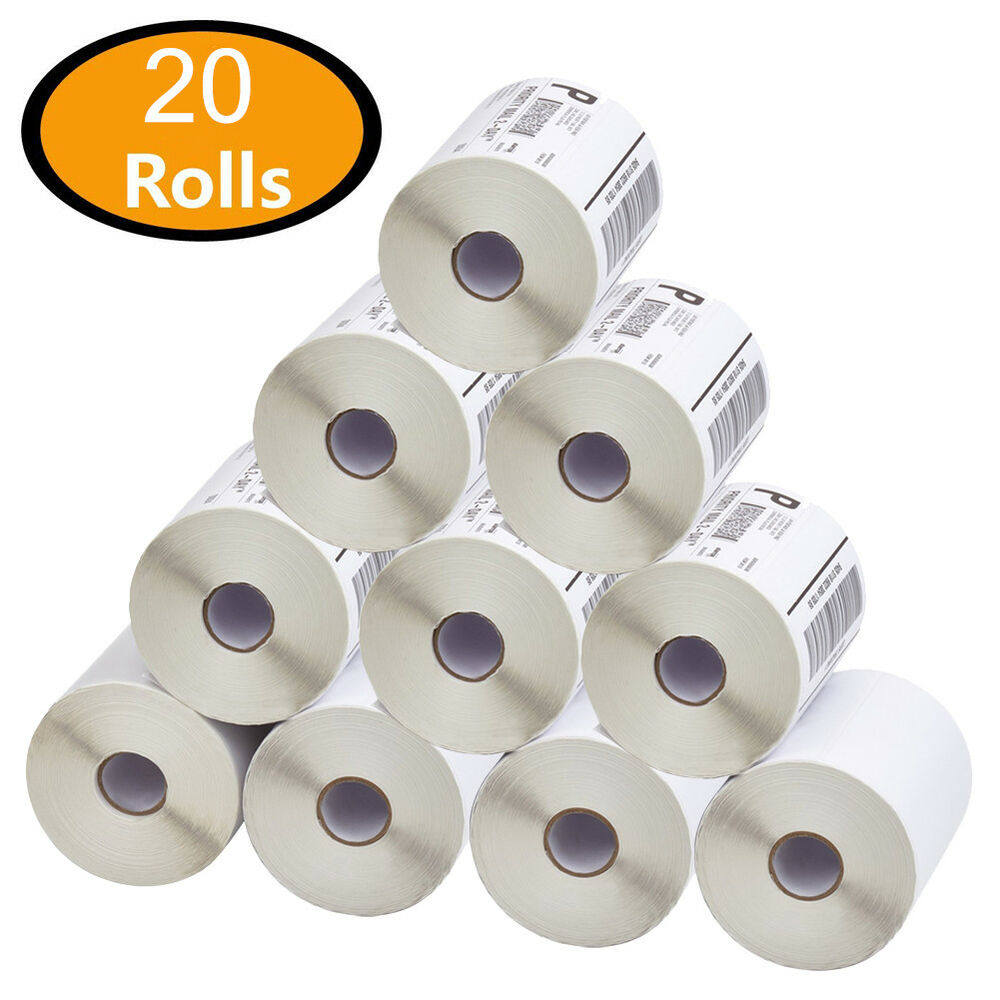 15 Rolls of Zebra GX420D Direct Thermal Shipping Labels 4x6 250