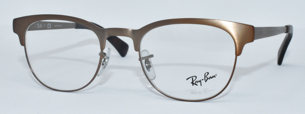 5c6044219e NEW 100% AUTHENTIC RAY BAN EYEGLASSES RB6317 2836 BROWN METAL 49-20-140