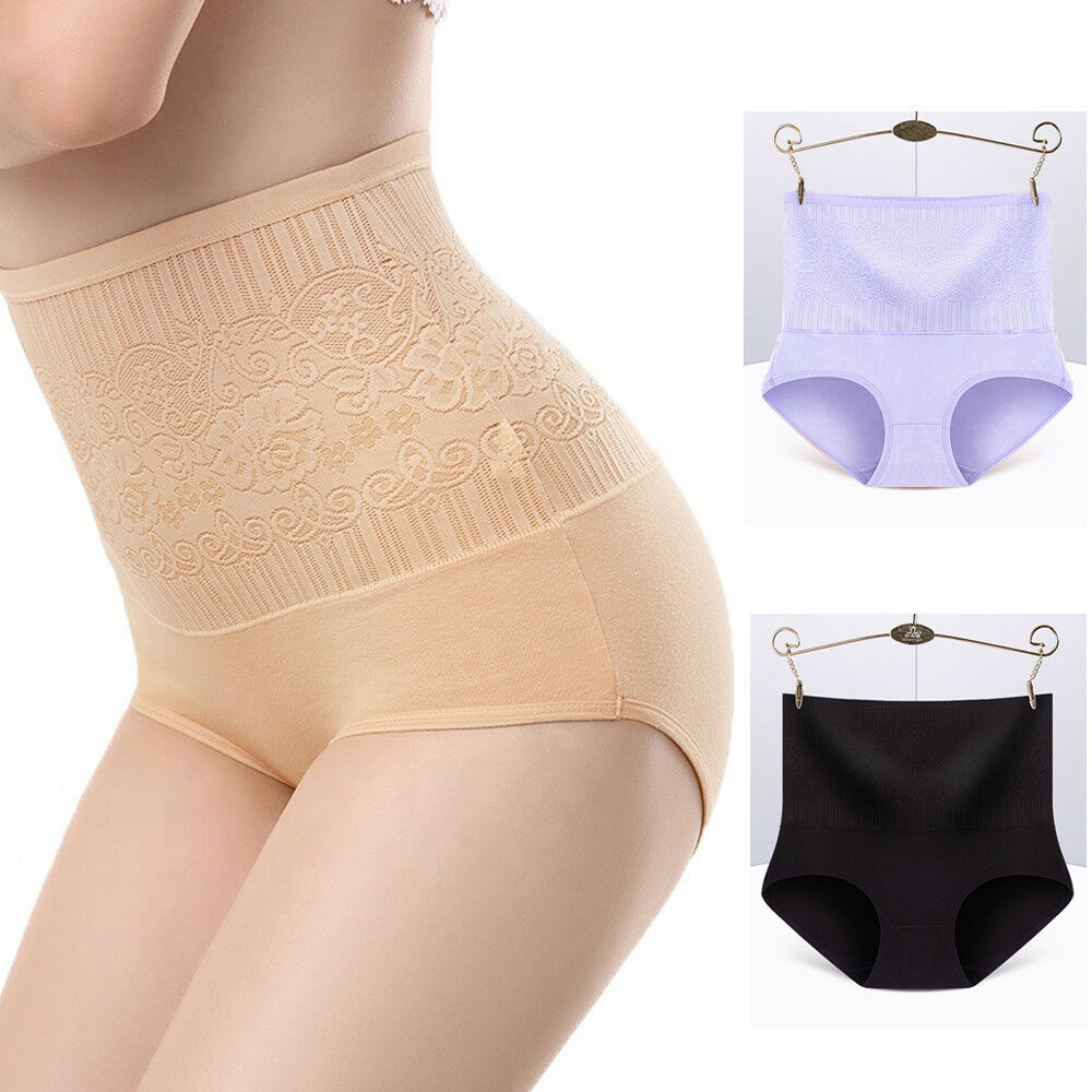 3285fd2e4638 Details about Women High Waist Control Briefs Shapewear Panty Body Shaper  Slim Tummy Underwear