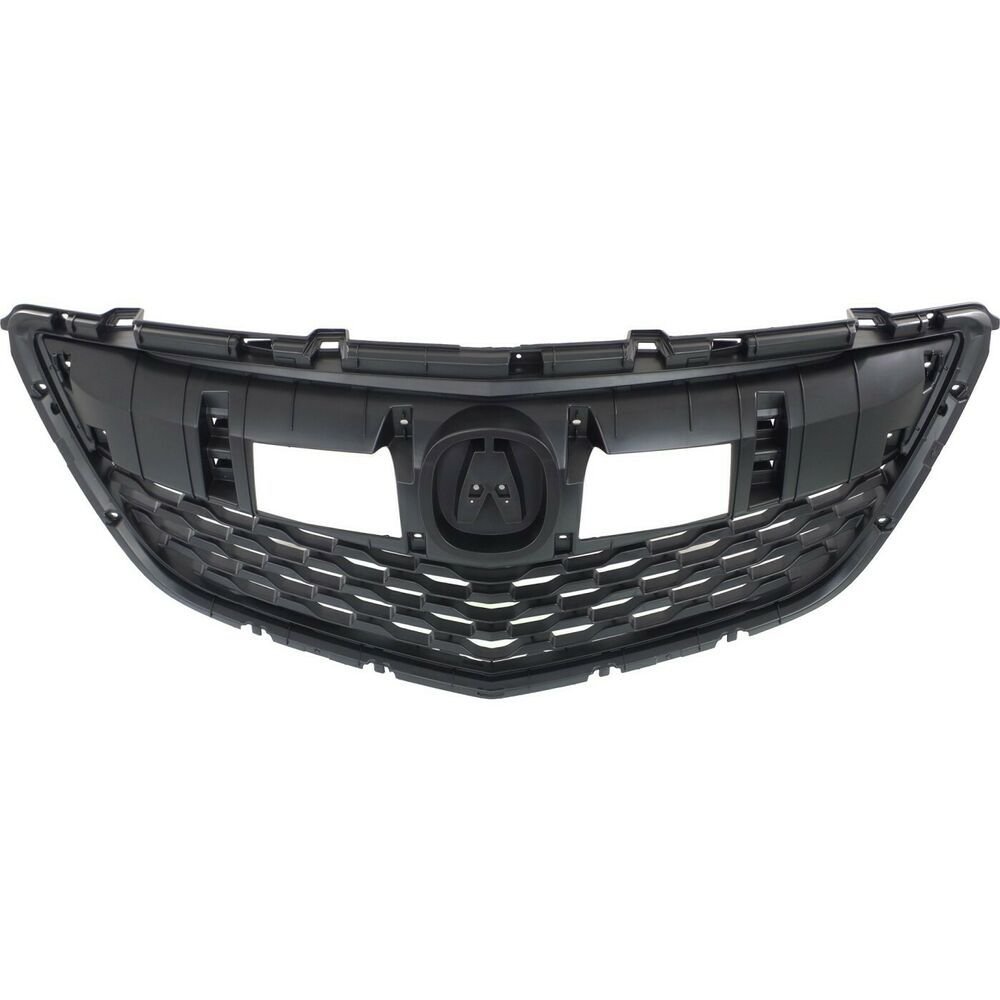 Grille For 2014-2015 Acura MDX Textured Dark Gray Plastic