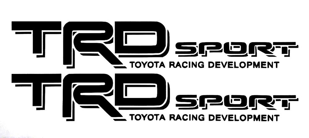 2 trd toyota racing development sport tacoma tundra 4x4 decal sticker off road