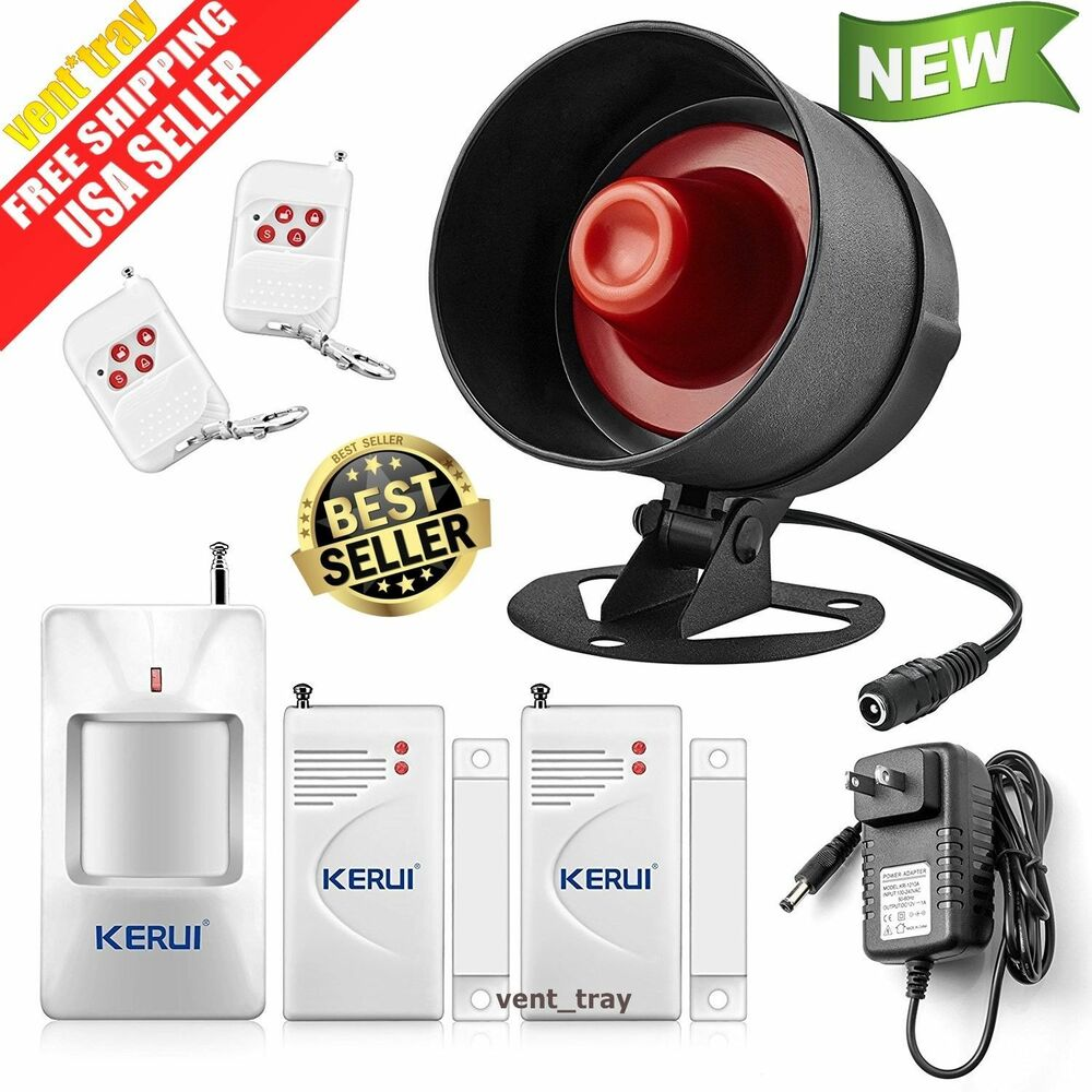 Alarm System Siren Security Remote Wireless Motion Sensor