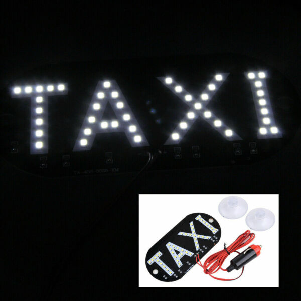 Auto White 45 LED Cab Taxi Roof Sign Light 12V Vehical Inside Windscreen Lamp IT