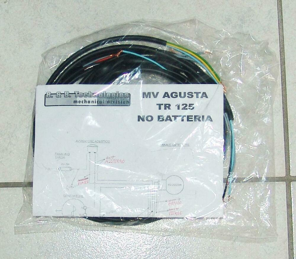 System Electric Electrical Wiring Mv Agusta Tr 125 No
