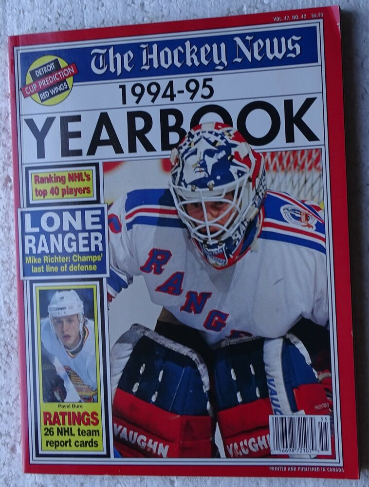 b6f8ef71c The Hockey News 1994-95 Yearbook (Mike Richter on cover) Detroit Red Wings,  etc. | eBay