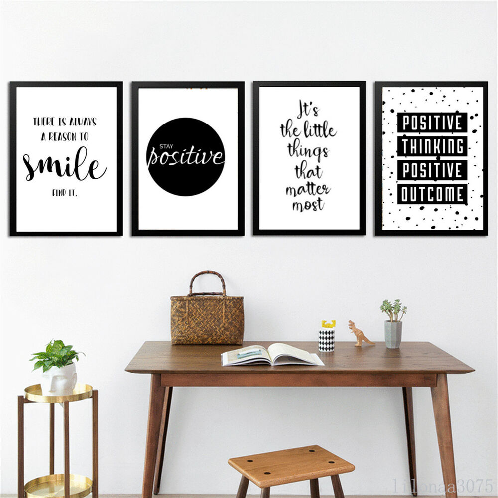Modern Kitchen Wall Art Print Set Inspirational By: Quote Wall Art Canvas Painting Posters Black White Prints