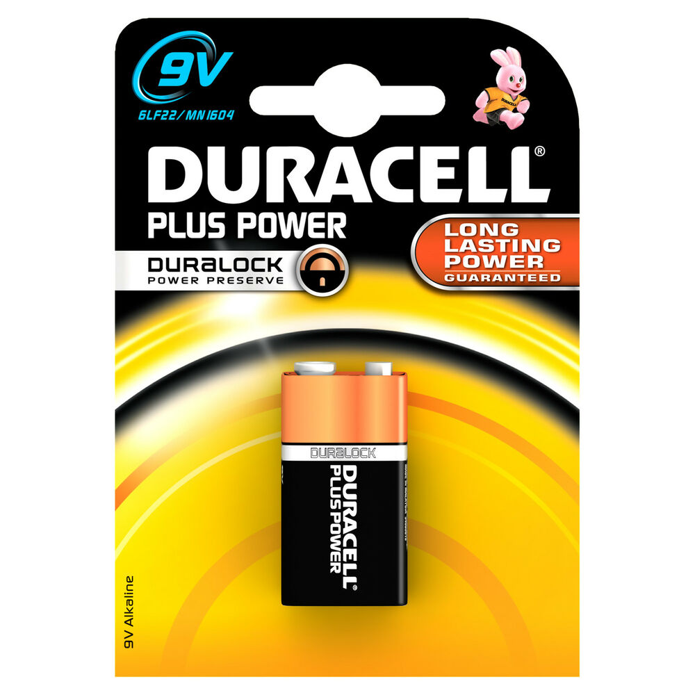 Plus 9v Battery Single Pack S3565 Duracell Genuine Top Quality Product New