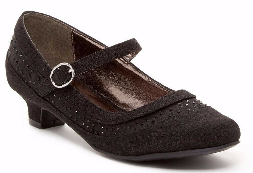 Kenneth Cole Black Dress Shoes With Sparkling Black Stones Girls