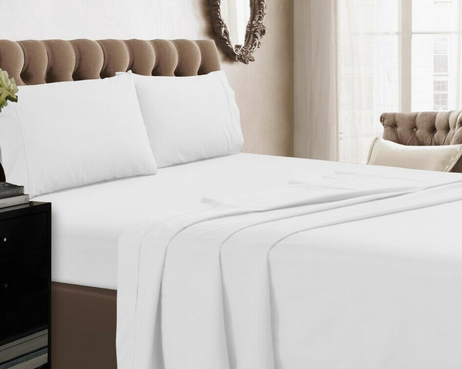 Details About 400tc Flat Sheet 100 Egyptian Cotton Top Bed Sheets Double King Super Size