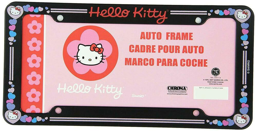 Sanrio Hello Kitty Pink Hearts Car Truck Suv Universal Fit License