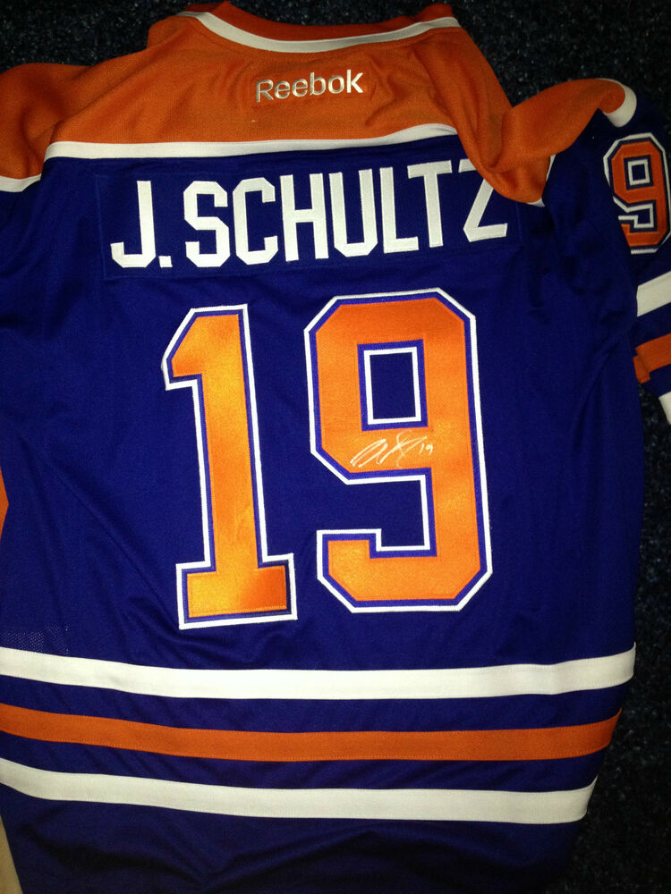 new arrival 3c316 dab90 Edmonton Oilers Justin Schultz Signed Autographed Reebok Size XL Jersey COA  BNWT | eBay