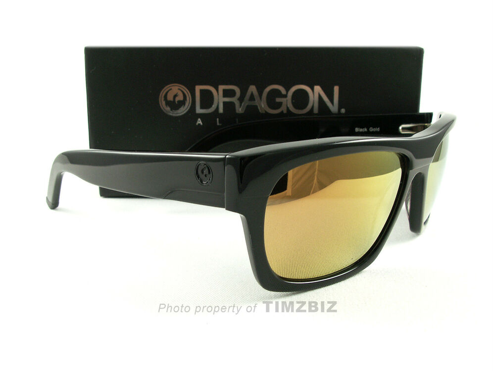 e7692fd337 Details about New Dragon Alliance Sunglasses Viceroy Black Gold Ion  720-2048 Authentic