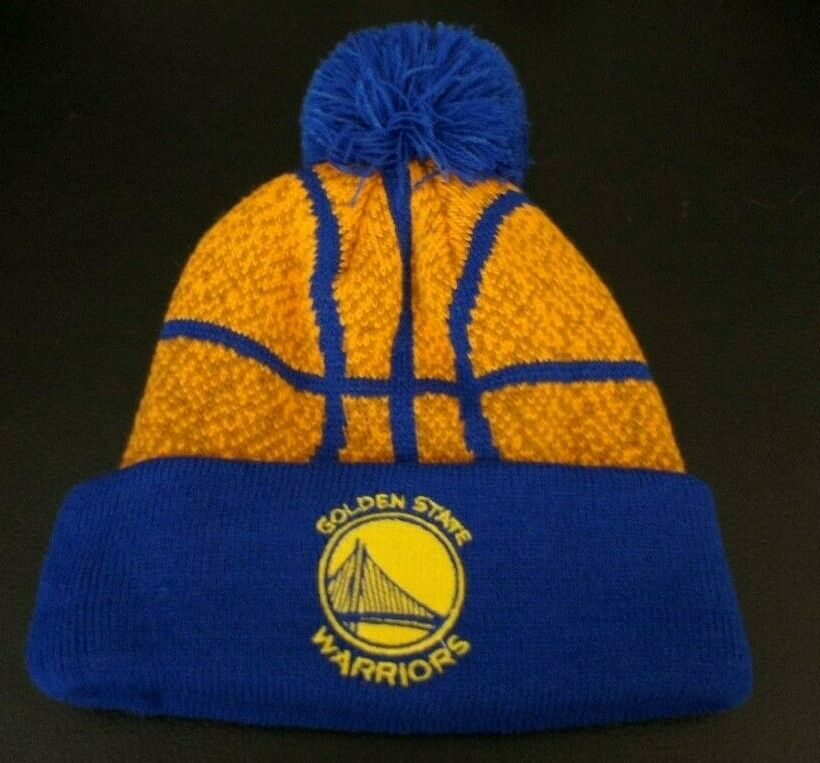 Details about Golden State Warriors Winter Hat Cap Cool Basketball Top Kids  Pom FREE SHIPPING! 1e9dcf859e71