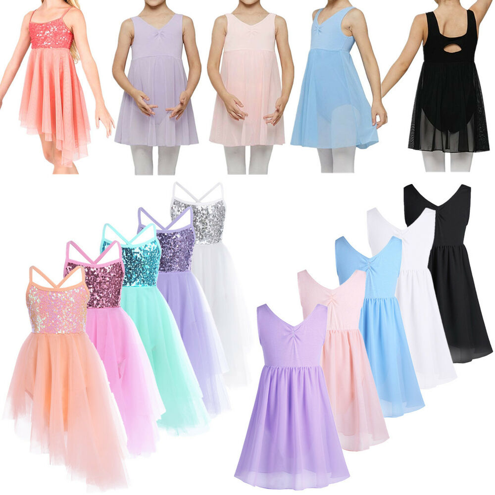 57a5bf443 Girls Ballet Dance Dress Sleeveless Gymnastics Leotard Lyrical ...