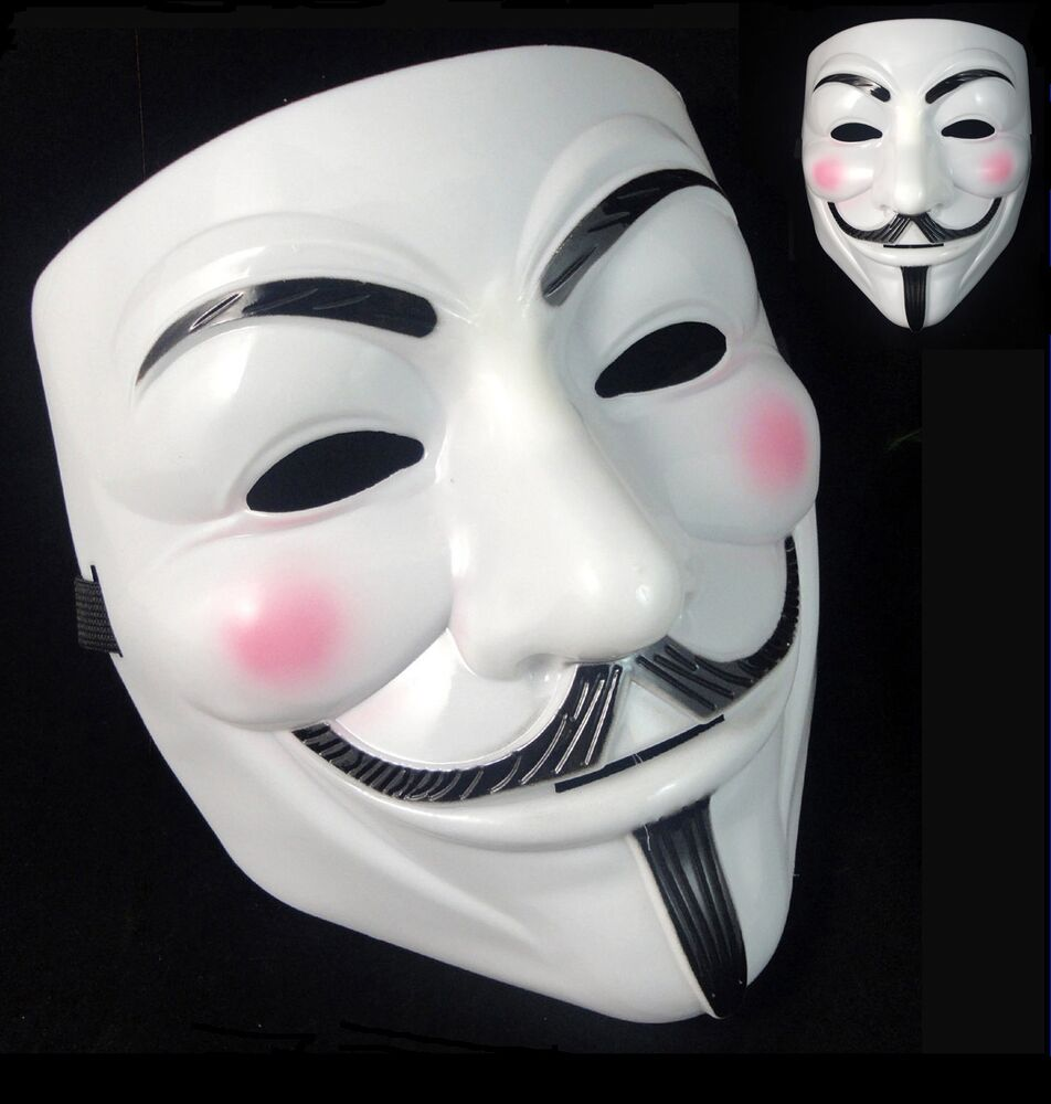 Details about anonymous hacker v for vendetta guy fawkes fancy dress halloween face mask