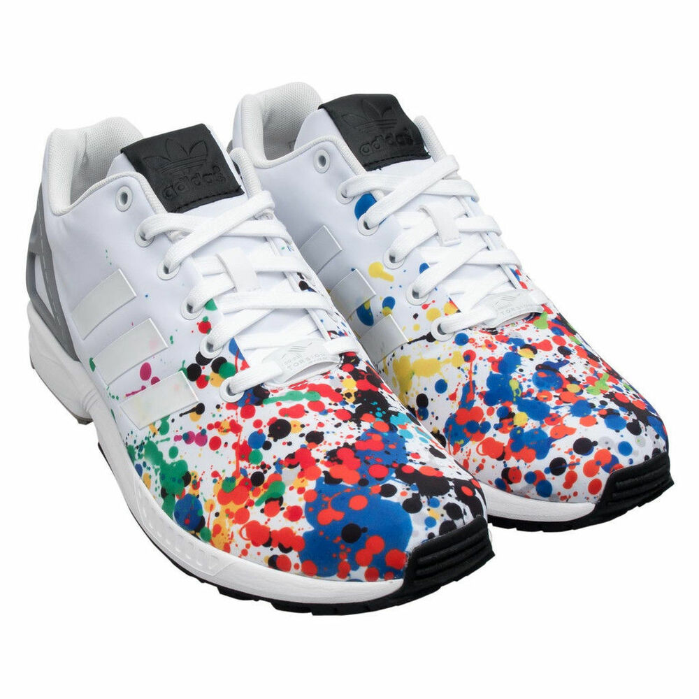 on sale e97f6 742bc Details about Nib~Adidas ZX FLUX COLLAGE Running 8000 energy TORSION Boost  gym Shoes~Mens sz 9