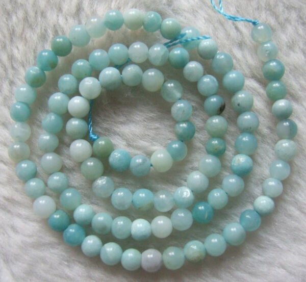 4mm 6mm 8mm Natural Amazonite Round Loose Beads 15