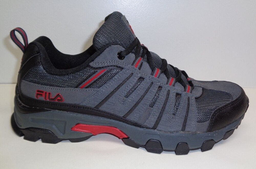 95403a8f26 Details about Fila Size 10 WESTMOUNT Grey Black Red Leather Hiking Sneakers  New Mens Shoes