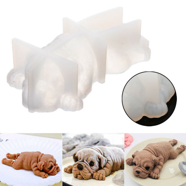 3D Dog Shape Silicone Mold Mousse Cake Chocolate Jelly Decoration Baking Mould