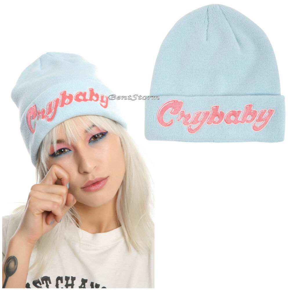 Details about Melanie Martinez Cry Baby Crybaby Beanie Blue Watchman Knit  Hat Cap Genuine NEW 62863988b99