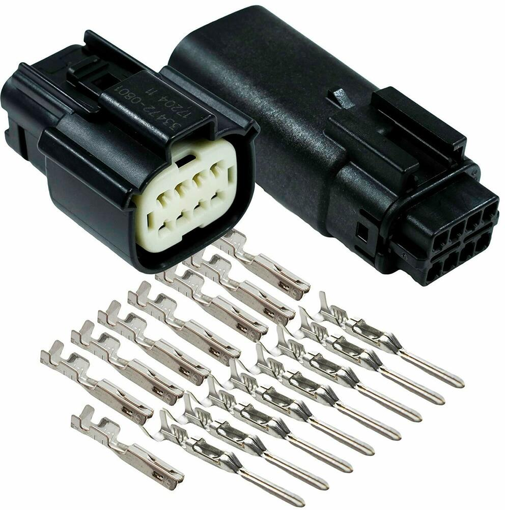 molex black 8 pin wire connector harley waterproof. Black Bedroom Furniture Sets. Home Design Ideas