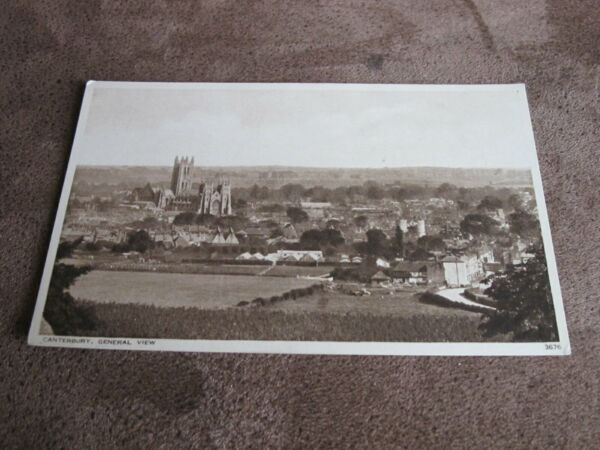 Kent postcard - Atmospheric view - Canterbury