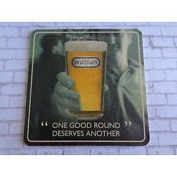 Beer COASTER ~ Wye Valley Brewing Buddy Bach ~ England Brewery ~ #17 In A Series