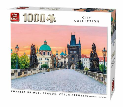 1000 Piece King City Collection Jigsaw Puzzle Charles Bridge Prague 55859