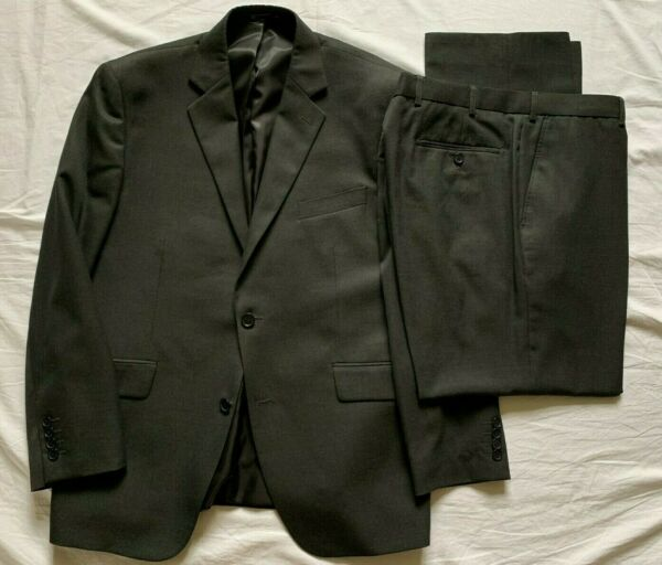 Dehavilland Mens Dark Grey 2 Piece Suit 42S Jkt 38S Trousers