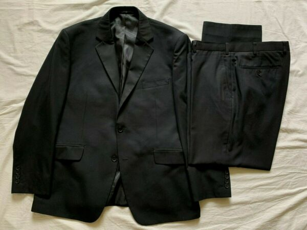 Dehavilland Mens Navy Blue 2 Piece Suit 42S Jkt 38S Trousers