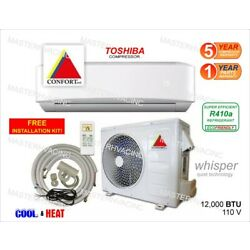 Kyпить 12,000 BTU Ductless Air Conditioner, Heat Pump Mini Split 110V 1 Ton With/KIT на еВаy.соm