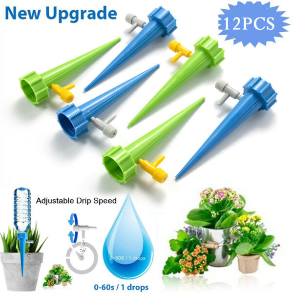 12pcs Plant Self Watering Adjustable Stakes Automatic Spikes Irrigation System