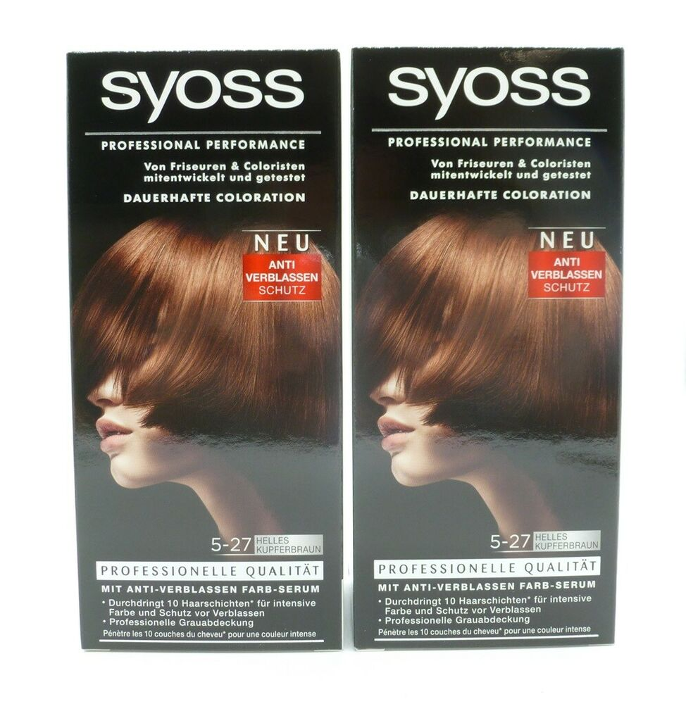 2x Syoss Professional Performance 5 27 Kupferbraun 115 Ml Ebay
