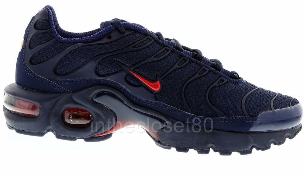 9f60330380 Details about Nike Air Max Plus GS Tn Tuned 1 Navy Blue Red Juniors Girls  Boys 655020 424