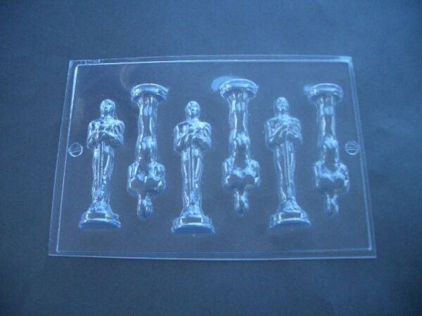 MINI AWARD TROPHY STATUE CHOCOLATE MOULD/MOLDS/10.5CM HIGH/OSCARS THEME PARTY
