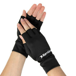 RiptGear Compression Gloves for Support and Comfort Black - Pair