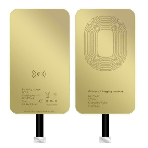 Qi Wireless Charger Charging Receiver For iPhone 7 7Plus 6S+ 6 SE 5S 5C 5 GOLD