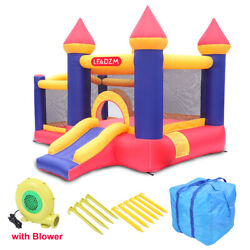 Kyпить Safety Two Play Areas Inflatable Bounce House Kids Castle Slide with Blower на еВаy.соm