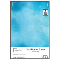 Kyпить 24x36 Thin Poster Picture Frame Black Display Protect Cover Showcase Certificate на еВаy.соm