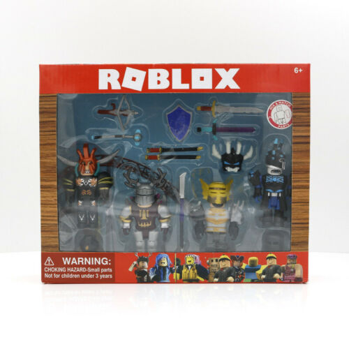 Roblox 4 PCS Action Figures Knights Character Pack in Box Kid's Party Toys Gift