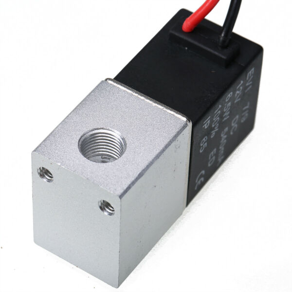 12V 1/4'' 2 Way Normally Closed Pneumatic Aluminum Electric Solenoid Air Valve