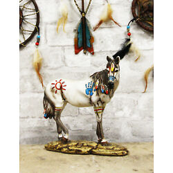 Kyпить Native Indian Tribal Beauty Medicine Spirit Horse Hand Crafted Statue 8