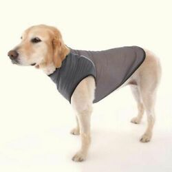 Doggles Insect Shield Insect Protection Dog Pet Clothes Mesh Shirt Gray NEW