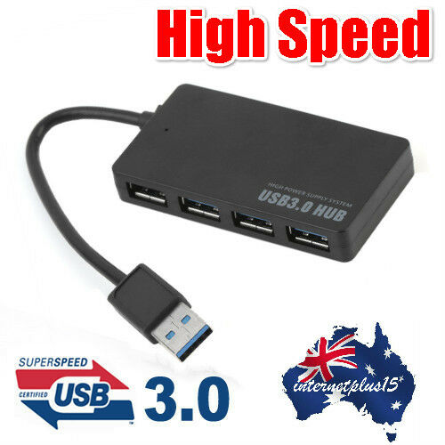 Portable Good Quality Super Speed 4 Ports USB 3.0 Hub Splitter Adapter CP