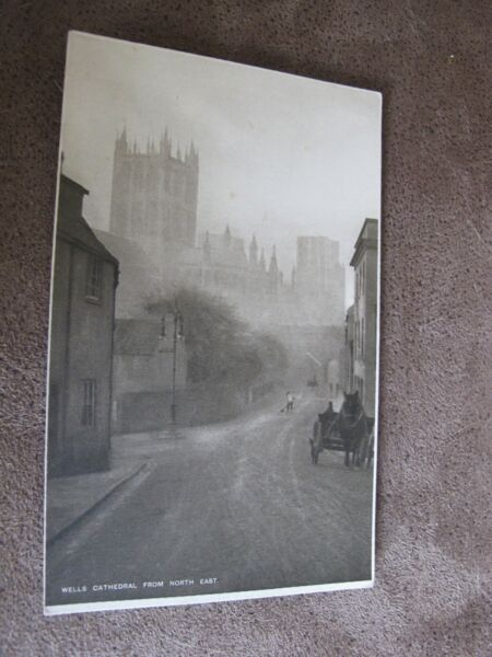 Early Wiltshire postcard - Atmospheric scene - Wells in mist
