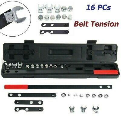 16Pcs Wrench Serpentine Belt Tension Tool Kit Automotive Repair Set Sockets US