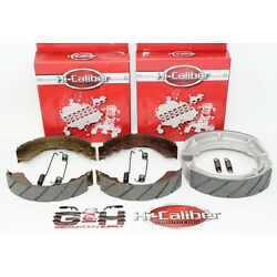 Suzuki King Quad LTF 300 4WDX WATER GROOVED FRONT & REAR Brake Shoes +Springs